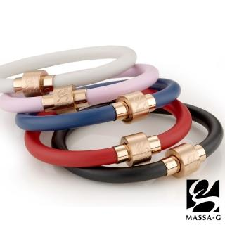【MASSA-G】O2鍺鈦能量手環-6MM玫瑰金扣