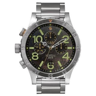 【NIXON】48-20 CHRONO 潮流重擊運動腕錶-仿鏽x銀(A4861956)