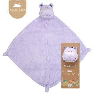 【美國 Angel Dear】動物嬰兒安撫巾(紫色河馬)
