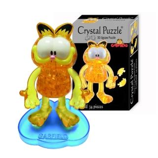 【3D立體水晶拼圖】3D Crystal Puzzles 加菲貓(8cm系列-34片)