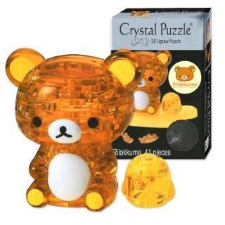【3D立體水晶拼圖】3D Crystal Puzzles 拉拉熊Rilakkuma(8cm系列-41片)