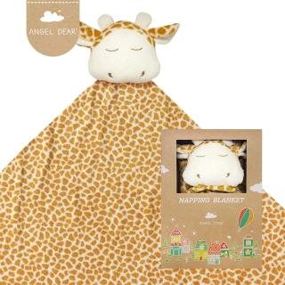 【美國 Angel Dear】大頭動物嬰兒毛毯(長頸鹿)