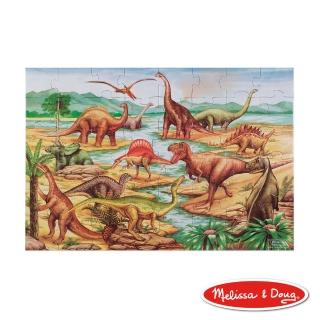 【美國瑪莉莎 Melissa & Doug】大型地板拼圖(恐龍-48 片)