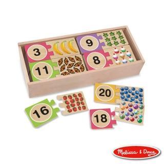 【美國瑪莉莎 Melissa & Doug】數字對照學習拼圖卡
