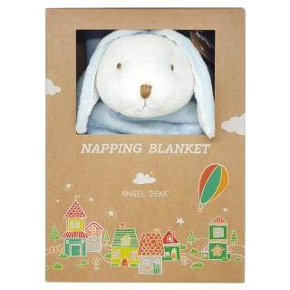 【美國 Angel Dear】大頭動物嬰兒毛毯(藍色小兔)