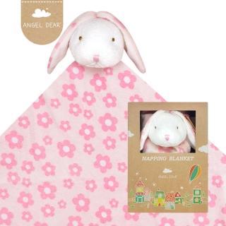 【美國 Angel Dear】大頭動物嬰兒毛毯(花花小兔)