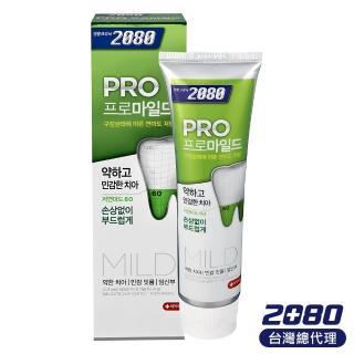 【韓國2080】專業亮白牙膏-溫和美白.玫瑰薄荷(125gX3入)