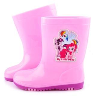 【童鞋城堡】Pony彩虹小馬 中大童 甜美雙色底雨鞋(MP7942-粉)