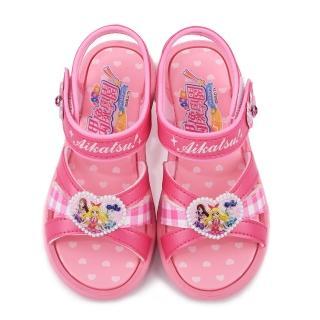 【童鞋城堡】偶像學園 中大童 浪漫愛心涼鞋(ID4408-桃)