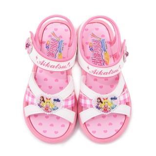 【童鞋城堡】偶像學園 中大童 浪漫愛心涼鞋(ID4408-白)
