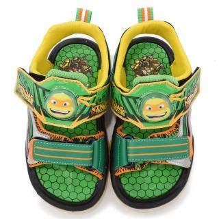 【童鞋城堡】忍者龜 中大童 帥氣LED電燈涼鞋(TT3781-綠)