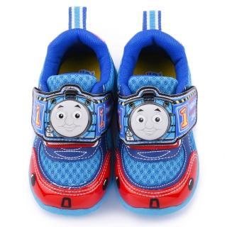 【童鞋城堡】湯瑪士 中童 魔鬼氈電燈運動鞋(TH50077-1-水藍)