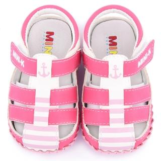【童鞋城堡】MINI-K 小童 手工護趾寶寶涼鞋(KS65203-桃)