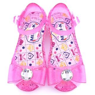【童鞋城堡】MINI-K 中童 小公主果凍鞋(KS25906-桃)