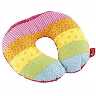 【德國Sigikid】嬰兒護頸枕-彩虹兔(餵奶枕頭)
