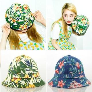 【LOTUS】韓系 繽紛春色 夏威夷花朵 時尚遮陽帽漁夫帽(2色)
