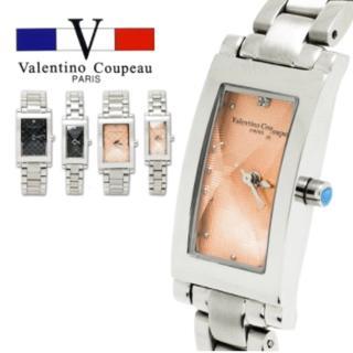 【微笑安安】范倫鐵諾 Valentino Coupeau 典藏方格切割面實心不鏽鋼殼帶腕錶(兩款各2色)