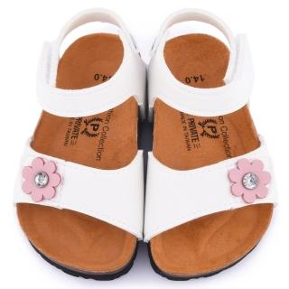 【童鞋城堡】二等兵 小童 真皮簡約軟木風格涼鞋(5817-白)