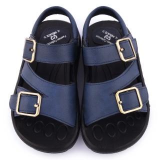 【童鞋城堡】二等兵 中童 質感扣環可水洗輕量涼鞋(5205-藍)