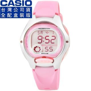 【CASIO】卡西歐鬧鈴多時區兒童電子錶-粉紅(LW-200-4B)