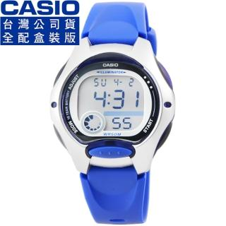 【CASIO】卡西歐鬧鈴多時區兒童電子錶-藍(LW-200-2A)