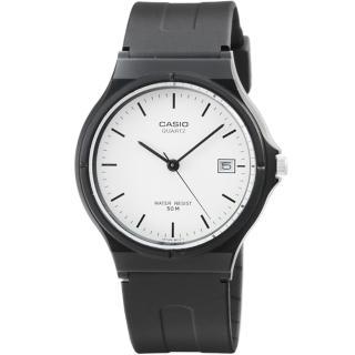 【CASIO】卡西歐薄型日誌石英錶-白(MW-59-7E)
