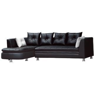 【綠活居】羅菲斯   L型皮革沙發椅組(左右向可選)