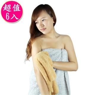 極超細纖維柔軟毛巾30*60cm 褐色 RM-90006-1(6入)