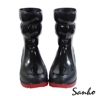 【勤逸軒】Sanho四季時尚長雨靴(帥氣黑)