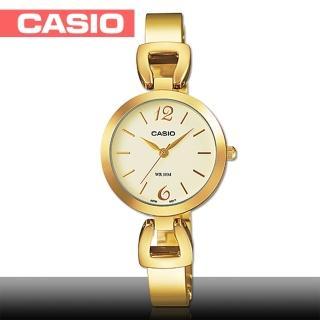 【CASIO 卡西歐】日系金系列-小徑面造型不鏽鋼女錶(LTP-E402G)
