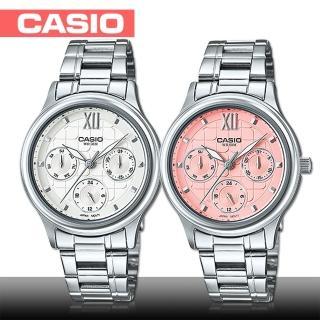 【CASIO 卡西歐】日系經典-三眼_不鏽鋼女錶(LTP-E306D)