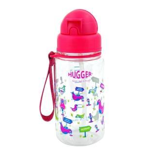 【英國Hugger】Tritan材質彈跳吸管水壺(歡樂鳥)