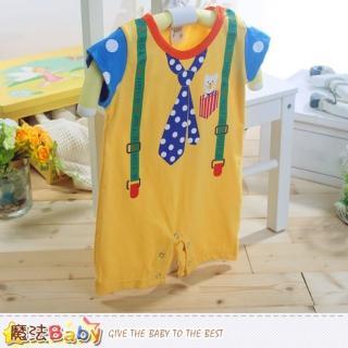 【魔法Baby】台灣製寶寶短袖包屁衣(k41002)