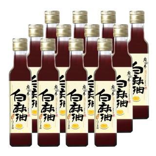 【麻油車】冷壓白麻油x12瓶組(255ML/瓶)