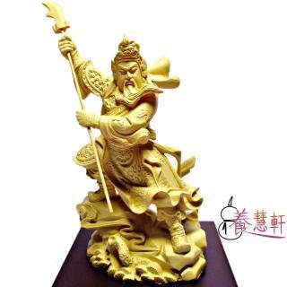 【養慧軒】金剛砂陶土精雕佛像 關公(木色)