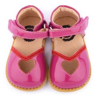 【美國LIVIE & LUCA】小童 真皮手工甜心涼鞋(Z009-紅)