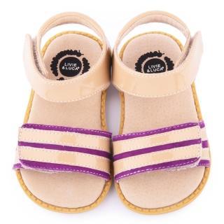 【美國LIVIE & LUCA】小童 真皮手工威爾斯涼鞋(Z022-紫)