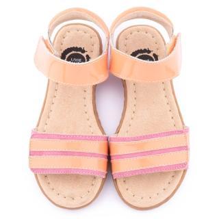 【美國LIVIE & LUCA】中童 真皮手工威爾斯涼鞋(Z022-1-粉)