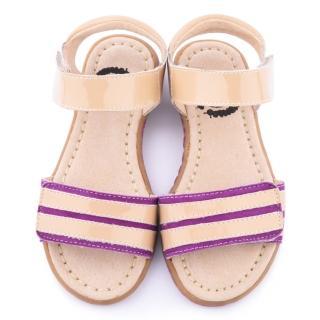 【美國LIVIE & LUCA】中童 真皮手工威爾斯涼鞋(Z022-1-紫)