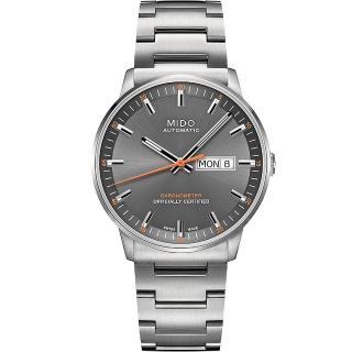 【MIDO】Commander 香榭系列天文台機械腕錶-灰x銀(M0214311106101)