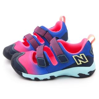 【NewBalance】中童 護趾運動涼鞋(KD555FPP-粉藍)