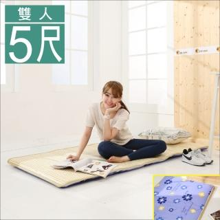 【BuyJM】冬夏兩用三折鋪棉雙人床墊(5x6尺)