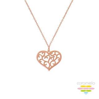 【彩糖鑽工坊】桃樂絲 Doris系列 玫瑰金項鍊(925純銀鍍玫瑰金 HAG-PS23)
