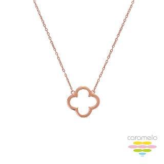 【彩糖鑽工坊】桃樂絲 Doris系列 玫瑰金項鍊(925純銀鍍玫瑰金 HAG-PS22)