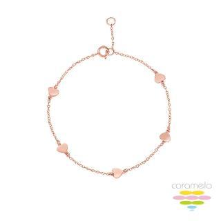 【彩糖鑽工坊】桃樂絲 Doris系列 玫瑰金手鍊(925純銀鍍玫瑰金 HAG-BS18)