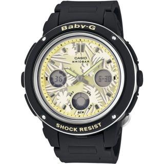 【CASIO】卡西歐Baby-G 鬧鈴多時區雙顯錶-黑(BGA-150F-1A)