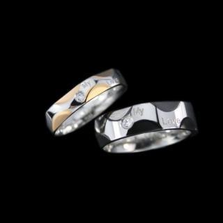 【xmono】俏皮牛乳紋不鏽鋼戒指(男女對戒)