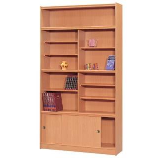 【時尚屋】豪豐4x7尺玻璃拉門書櫃(RC5-A47)
