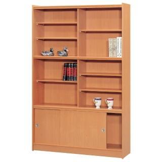 【時尚屋】豪豐4x6尺玻璃拉門書櫃(RC5-A46)