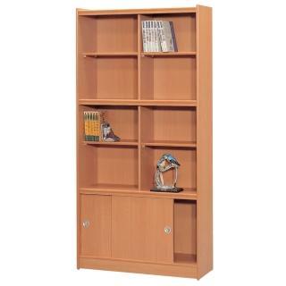 【時尚屋】豪豐3x6尺玻璃拉門書櫃(RC5-A36)